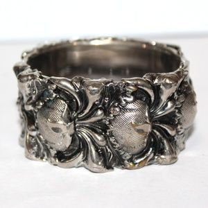 ATQ Embossed Repossed Edwardian Bangle Bracelet